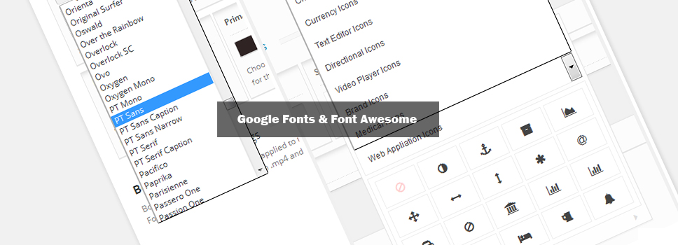 Google Fonts & Font Awesome